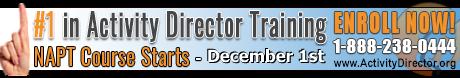 NAPT Activity Director Training Course Starts November 3rd
